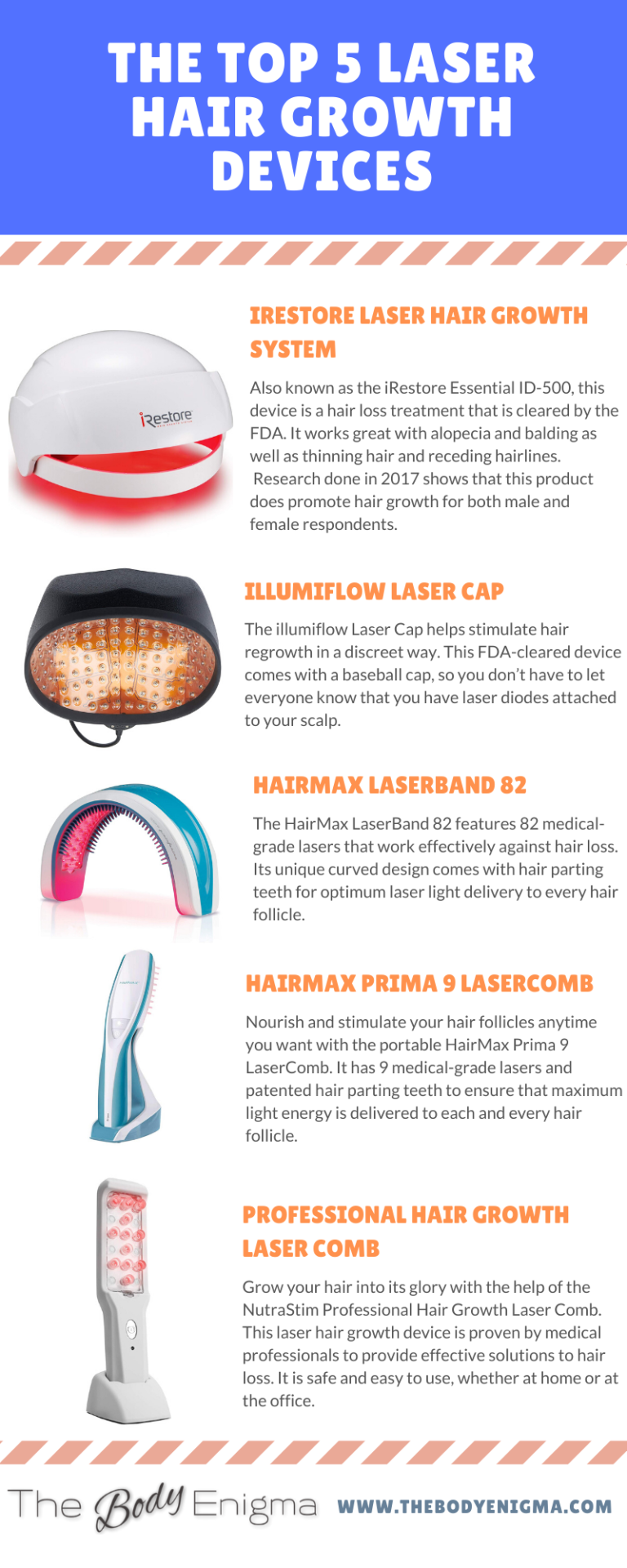 5 Best Laser Hair Growth Devices