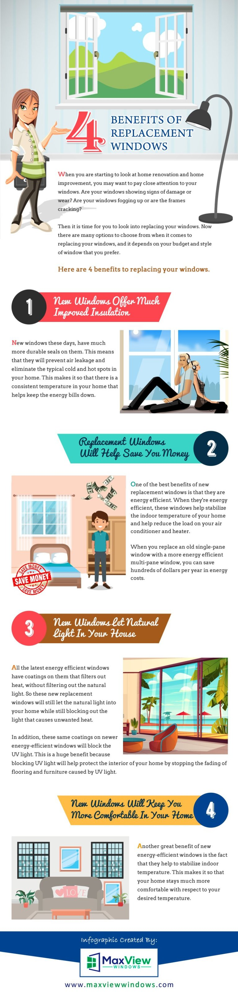4 Benefits of Replacement Windows [INFOGRAPHIC]