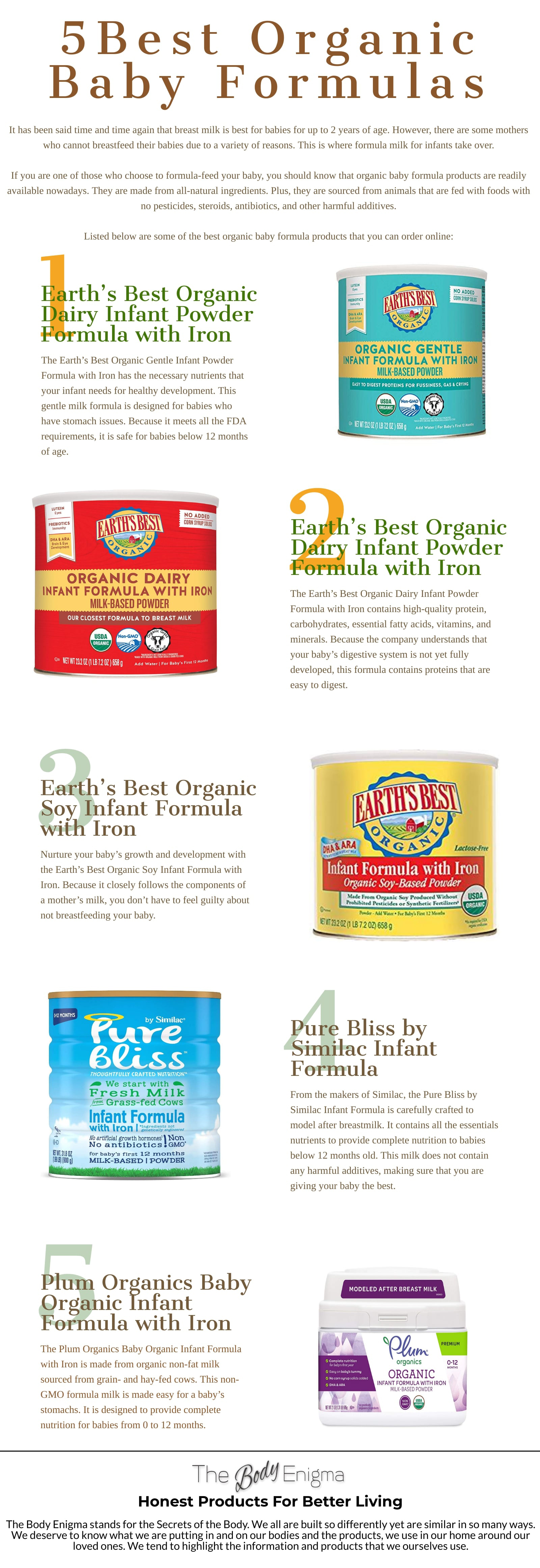 5 Organic Baby Formulas for Infants in 2020 [Infographic]